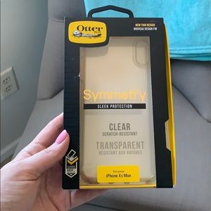 OtterBox clear iPhone XS Max case gently used